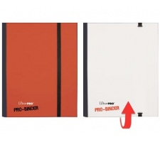 Pro 4 Pocket Binder Red / White Flip