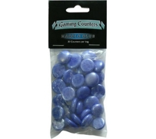 Gaming Counters: Marble Blue