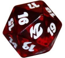 Spindown Die D20 Premium Deck Fire & Lightning