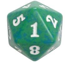 Spindown Die D20 Green