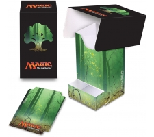 Deckbox with Tray Mana Green: Forest