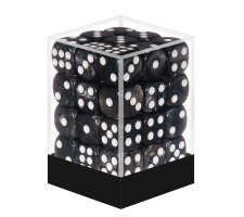 Dice Set D6 Marbled Black (36 pieces)