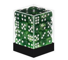 Dice Set D6 Marbled Jade Green (36 pieces)