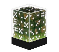 Dice Set D6 Marbled Pearlized Green (36 pieces)