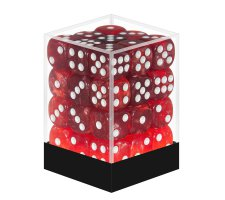 Dice Set D6 Marbled Pearlized Red (36 stuks)