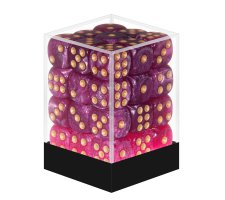 Dice Set D6 Marbled Purple / Gold (36 pieces)