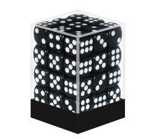 Dice Set D6 Opaque Black (36 pieces)