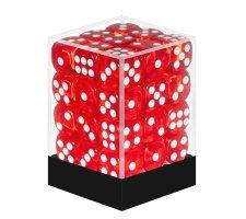 Dice Set D6 Transparent Red (36 stuks)