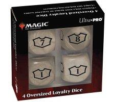 Oversized Loyalty Dice Set: Plains (4 pieces)