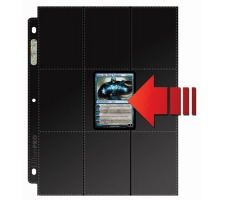 18 Pocket Pages Side Loading Black (10 stuks)