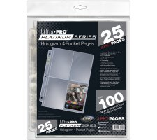 4 Pocket Pages Top Loading Clear Platinum (25 pcs)