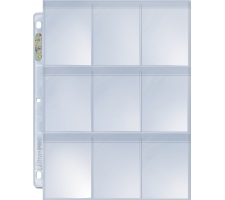 9 Pocket Pages Top Loading Clear Platinum Secure (10 stuks)