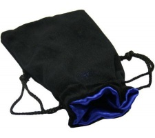 Velvet Dice Bag Blue (large)