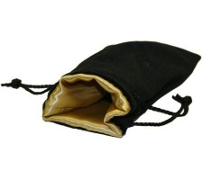 Velvet Dice Bag Gold (large)