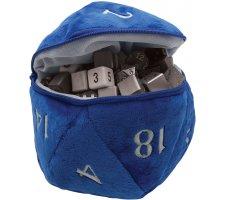 Pluche Dice Pouch D20 Blue