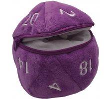 Pluche Dice Pouch D20 Purple