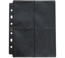 Dragon Shield 8 Pocket Pages Side Loading Black (50 pieces)