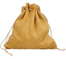 Leather Dice Bag Camel (large)