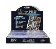 9 Pocket Pages Top Loading Clear Platinum (100 pieces)