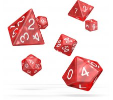 Oakie Doakie Dice Set RPG Marble: Red (7 pieces)