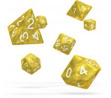 Oakie Doakie Dice Set RPG Marble: Yellow (7 pieces)