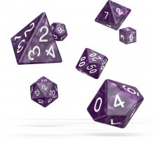 Oakie Doakie RPG Marble Dice Set: Purple (7 pieces)