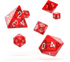 Oakie Doakie Dice Set RPG Translucent: Red (7 pieces)