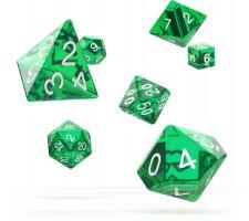 Oakie Doakie Dice Set RPG Translucent: Green (7 pieces)