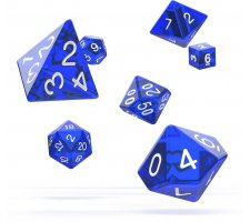 Oakie Doakie Dice Set RPG Translucent: Blue (7 pieces)