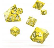 Oakie Doakie Dice Set RPG Translucent: Yellow (7 pieces)