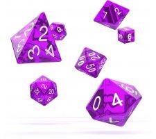 Oakie Doakie Dice Set RPG Translucent: Purple (7 pieces)