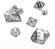 Oakie Doakie Dice Set RPG Translucent: Clear (7 pieces)