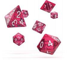 Oakie Doakie Dice Set RPG Speckled: Pink (7 pieces)