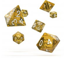 Oakie Doakie Dice Set RPG Speckled: Orange (7 pieces)