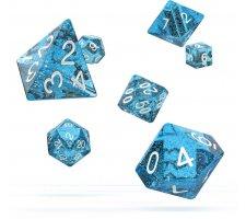 Oakie Doakie Dice Set RPG Speckled: Light Blue (7 pieces)