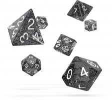 Oakie Doakie Dice Set RPG Speckled: Black (7 pieces)