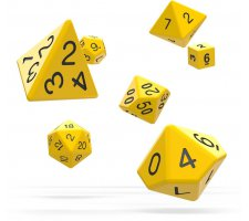 Oakie Doakie Dice Set RPG Solid: Yellow (7 pieces)