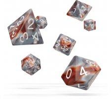 Oakie Doakie Dice Set RPG Gemidice: Silver-Rust (7 pieces)