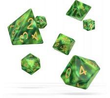 Oakie Doakie Dice Set RPG Gemidice: Jungle (7 pieces)