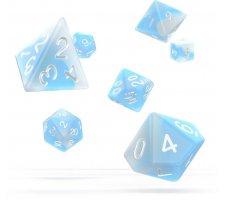 Oakie Doakie Dice Set RPG Glow in the Dark: Arctic (7 pieces)