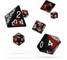 Oakie Doakie Dice Set RPG Glow in the Dark: Lava (7 pieces)