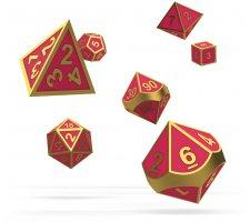 Oakie Doakie Dice Set RPG Metal Glow in the Dark: Golden Princess (7 pieces)