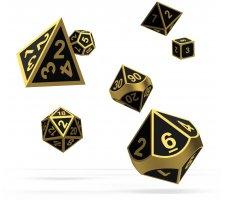 Oakie Doakie RPG Metal Dice Set: Alchemy Gold (7 pieces)