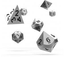 Oakie Doakie RPG Metal Dice Set: Mercury (7 pieces)