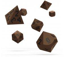 Oakie Doakie RPG Metal Dice Set: Brasstige (7 pieces)
