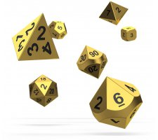 Oakie Doakie RPG Metal Dice Set: Aurym (7 pieces)