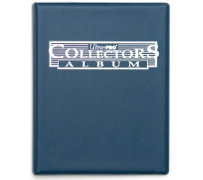 4 Pocket Portfolio Collectors Blue