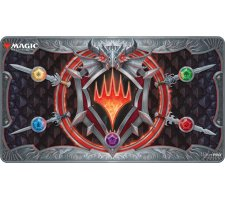 Playmat Stitched Edge Adventures in the Forgotten Realms: Stylized Planeswalker Symbol