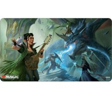 Playmat Adventures in the Forgotten Realms: The Party Fighting Blue Dragon