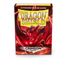 Dragon Shield Sleeves Matte Crimson (60 stuks)